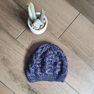 Charming Charlie Blue Cable knit beanie hat cap